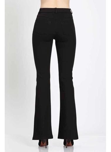 Vitrin Straight  Fit Crop Pantolon Siyah